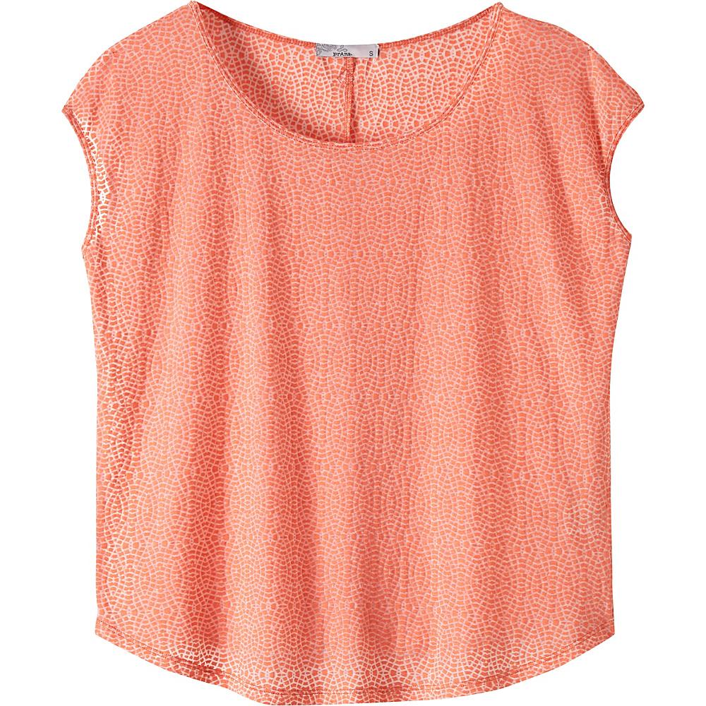 PrAna Tandi Top S - Bright Coral - PrAna Womens Apparel - Apparel & Footwear, Women's Apparel