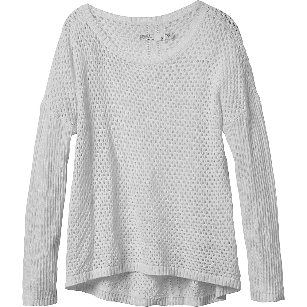 PrAna Parker Sweater XL - White - PrAna Womens Apparel - Apparel & Footwear, Women's Apparel