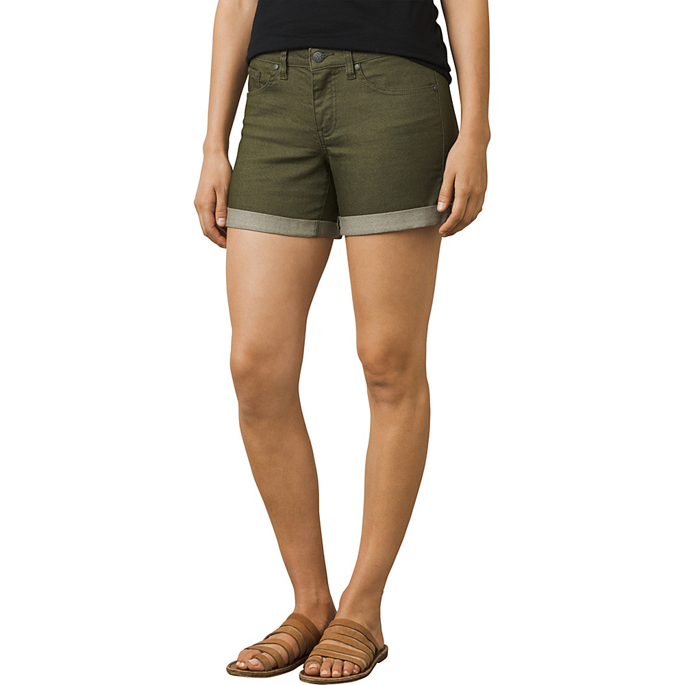 PrAna Kara Short 0 - Cargo Green - PrAna Womens Apparel - Apparel & Footwear, Women's Apparel