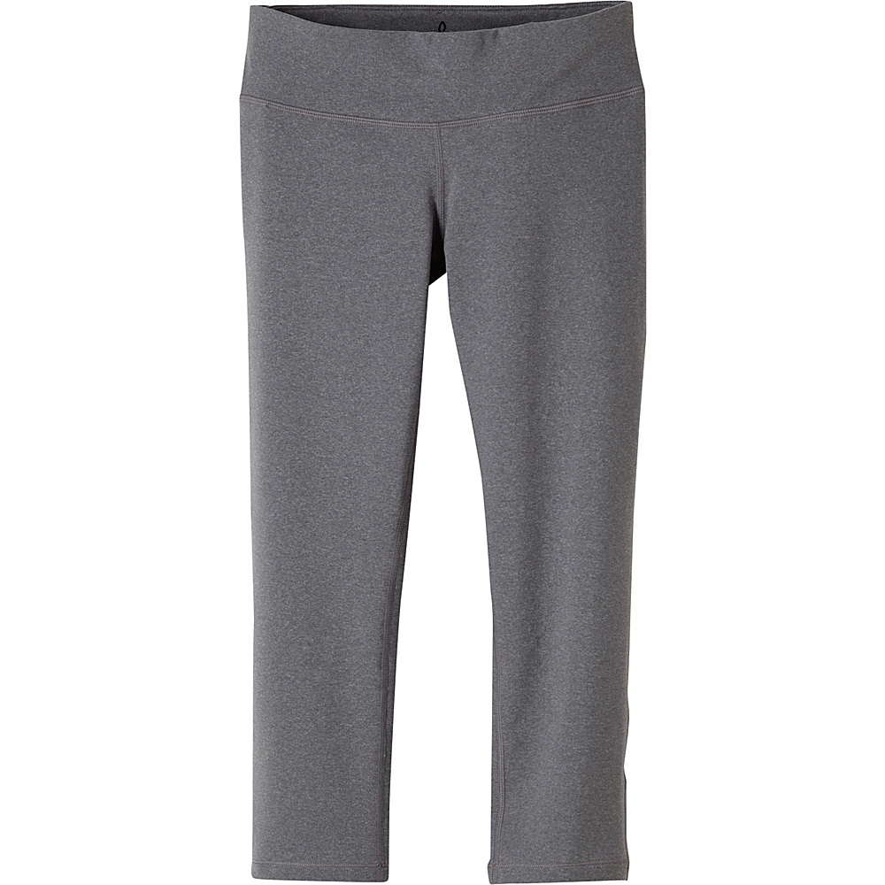PrAna Ashley Capri Leggings L - Heather Grey - PrAna Womens Apparel - Apparel & Footwear, Women's Apparel