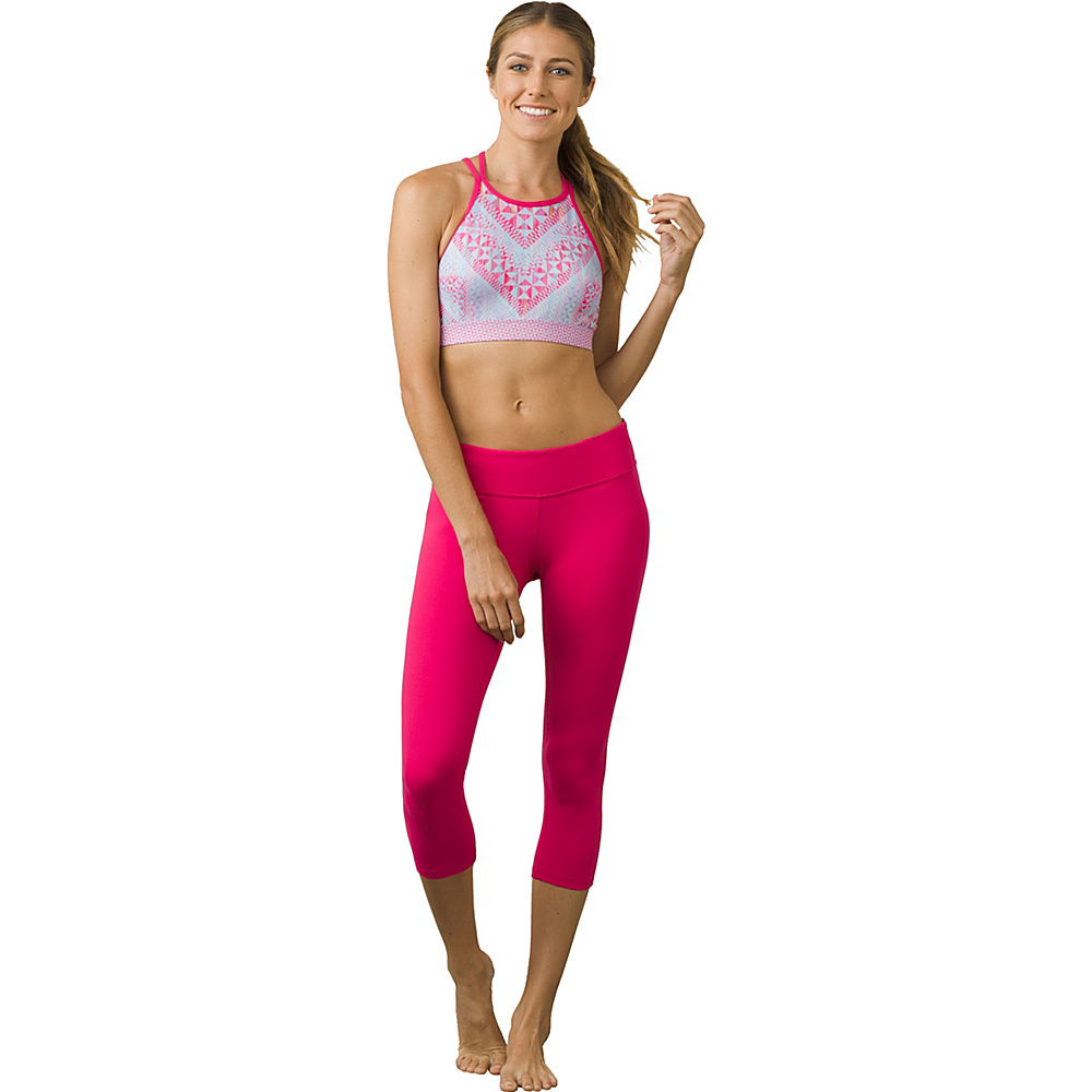 PrAna Ashley Capri Leggings S - Cosmo Pink - PrAna Womens Apparel - Apparel & Footwear, Women's Apparel