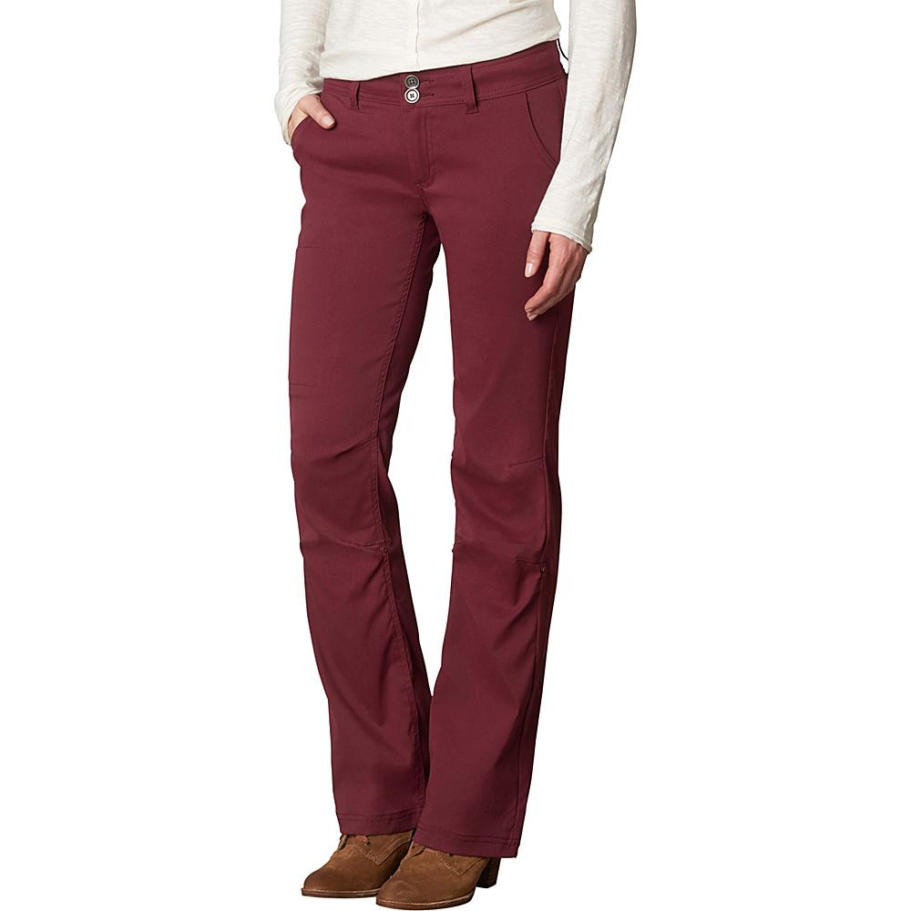 PrAna Halle Pants - Tall Inseam 6 - Burgundy - PrAna Womens Apparel - Apparel & Footwear, Women's Apparel