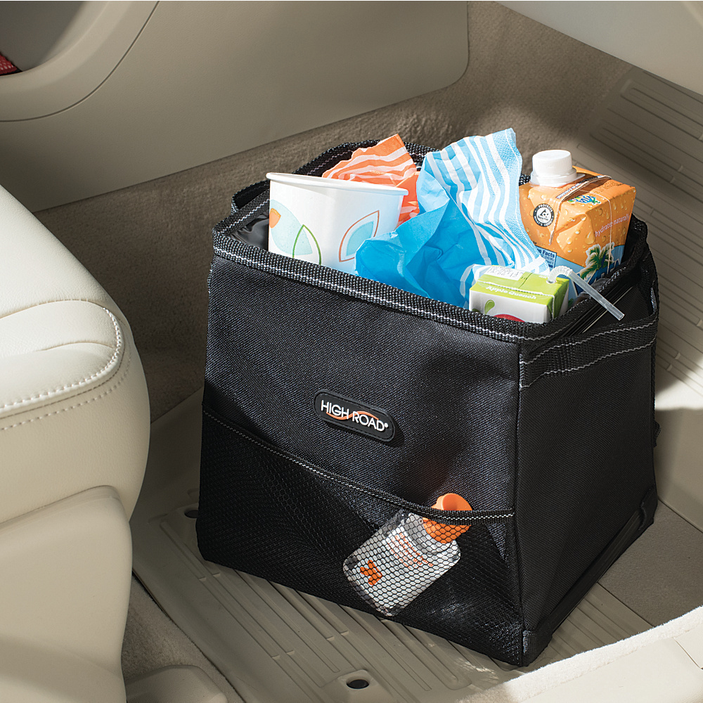 High Road StableMate 2.5 Gal. Leakproof Car Trash Can Black High Road Trunk and Transport Organization