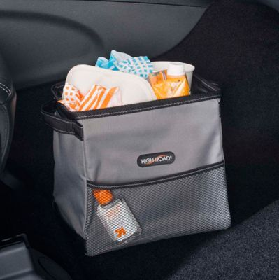 High Road High Road StableMate 2.5 Gal. Leakproof Car Trash Can Gray - High Road Trunk and Transport Organization