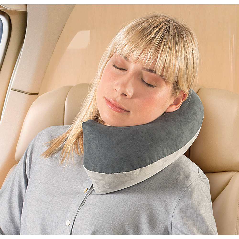 High Road Inflatable Microfiber Hedbed Travel Pillow Blue/Gray - High Road Travel Pillows & Blankets