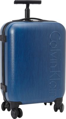 Calvin Klein Luggage Southampton 2.0 20 Carry-On Hardside Spinner Blue - Calvin Klein Luggage Hardside Carry-On