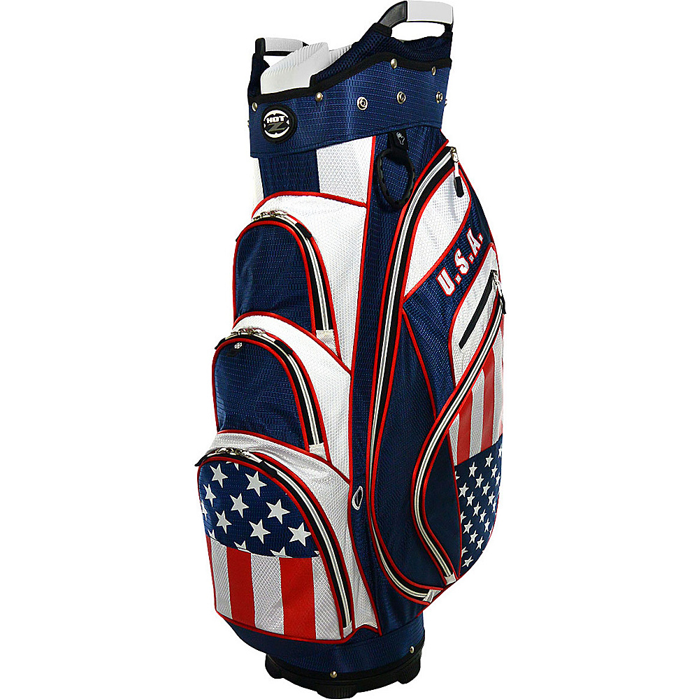 Hot Z Golf Bags Flag Cart Bag USA Hot Z Golf Bags Golf Bags