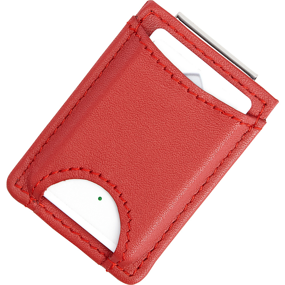 Royce Leather Bluetooth Tracking Wallet Tag Device Inside Slim Genuine Leather Money Clip Wallet Red - Royce Leather Travel Wallets - Travel Accessories, Travel Wallets
