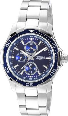 Armitron Mens Stainless Steel Bracelet Watch Blue - Armitron Watches