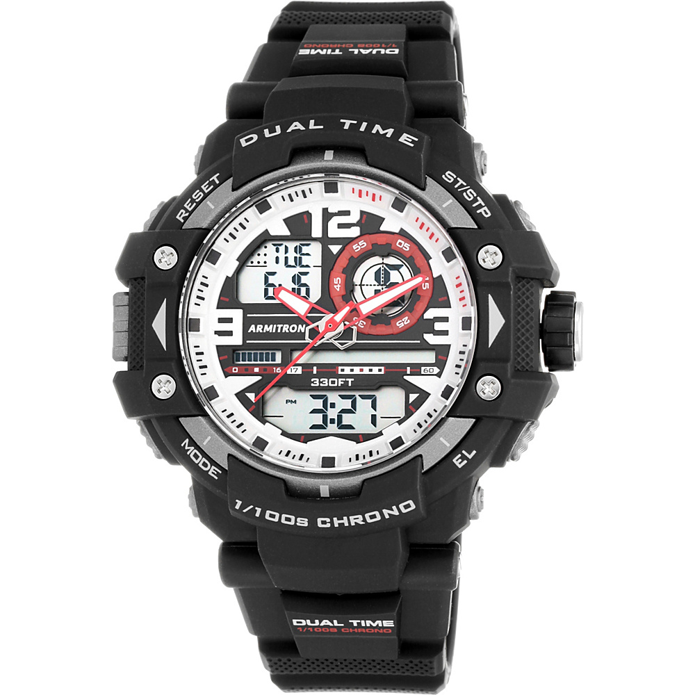 Armitron Mens Analog Digital Chronograph Resin Strap Sport Watch Red Armitron Watches