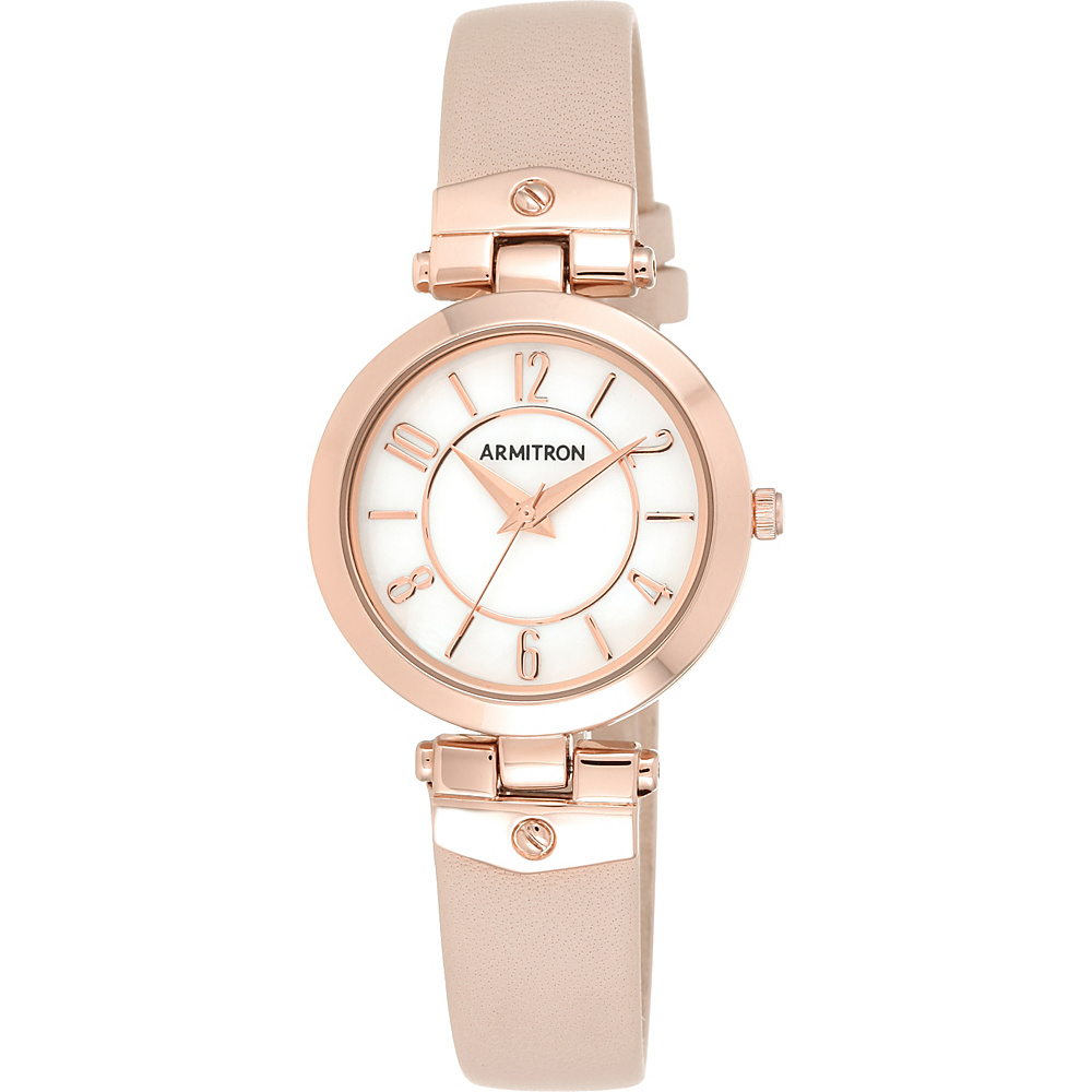 Armitron Womens Leather Strap Watch Rose Gold Armitron Watches