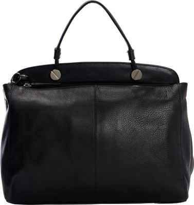 Derek Alexander Large Top Zip Shoulder bag Black/Black - Derek Alexander Leather Handbags
