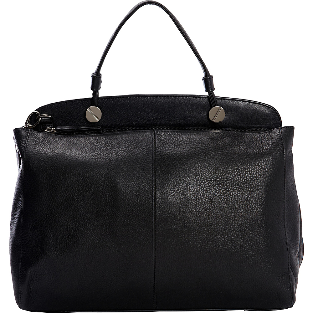 Derek Alexander Large Top Zip Shoulder bag Black/Black - Derek Alexander Leather Handbags - Handbags, Leather Handbags
