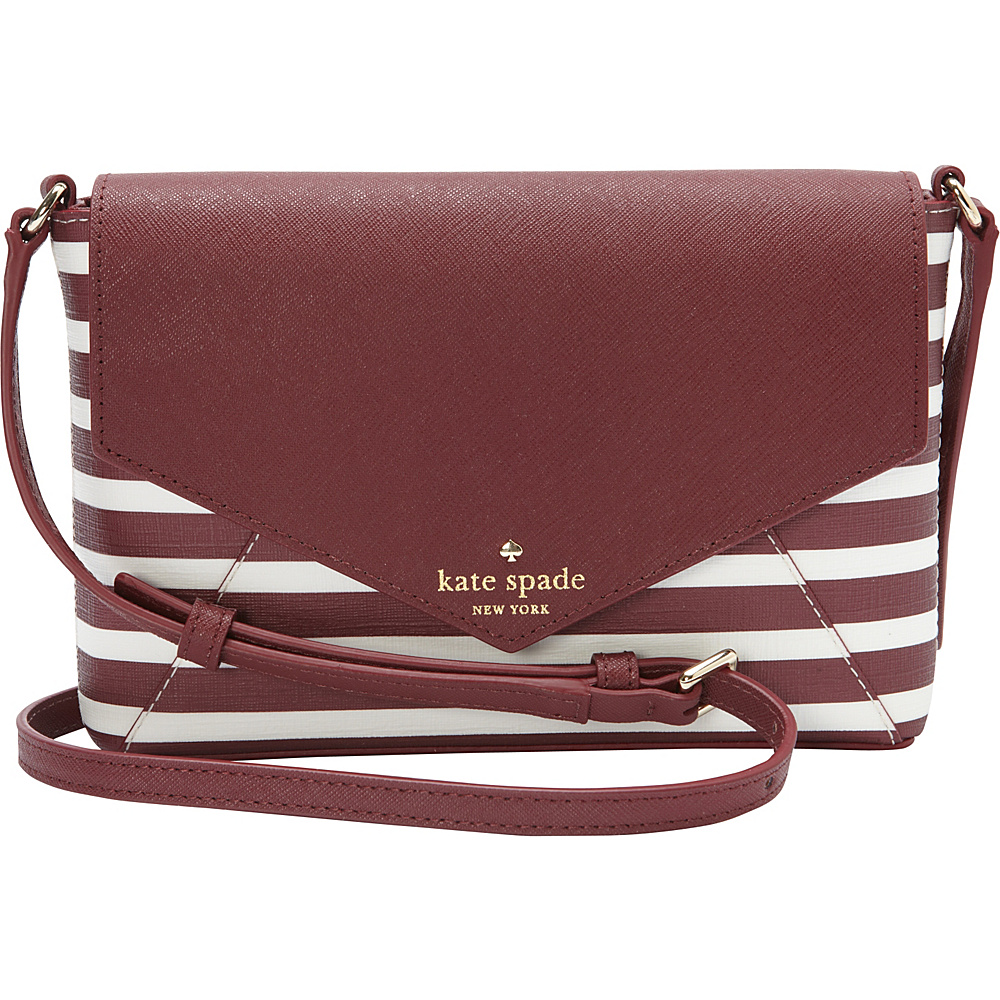 kate spade new york Fairmount Square Large Monday Crossbody Merlot/Cream - kate spade new york Designer Handbags