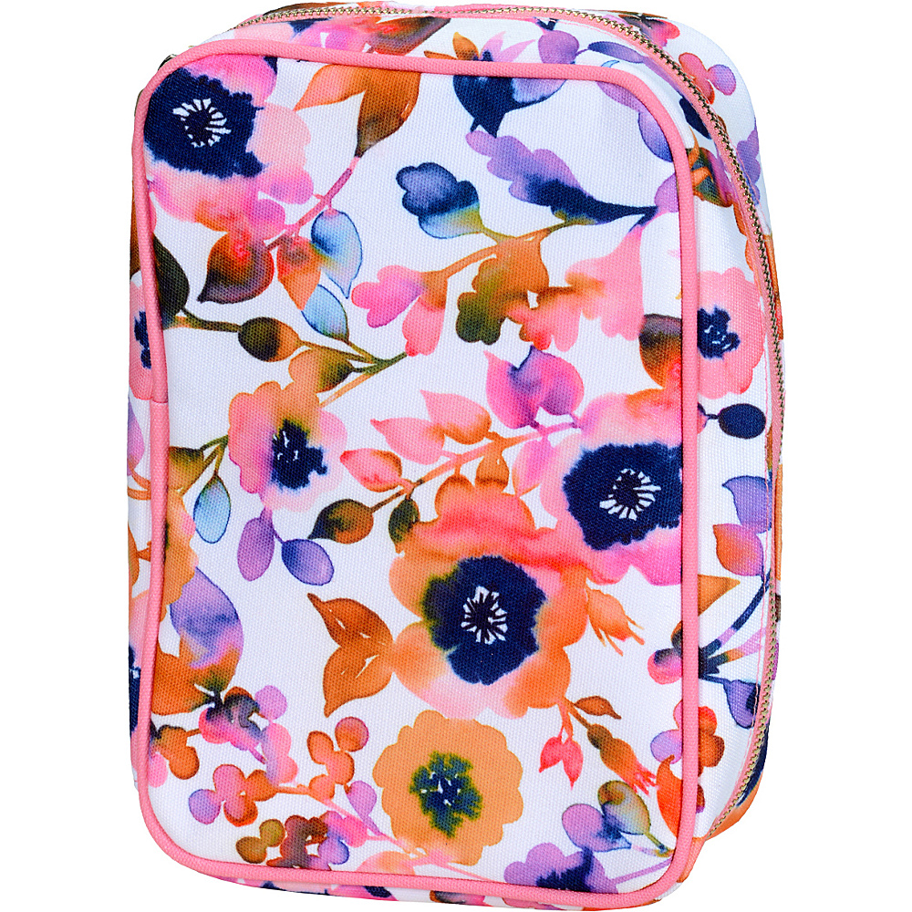 Capri Designs Josephine Kimberling Amelia Jewelry Case Paintbox Floral Capri Designs Packable Bags