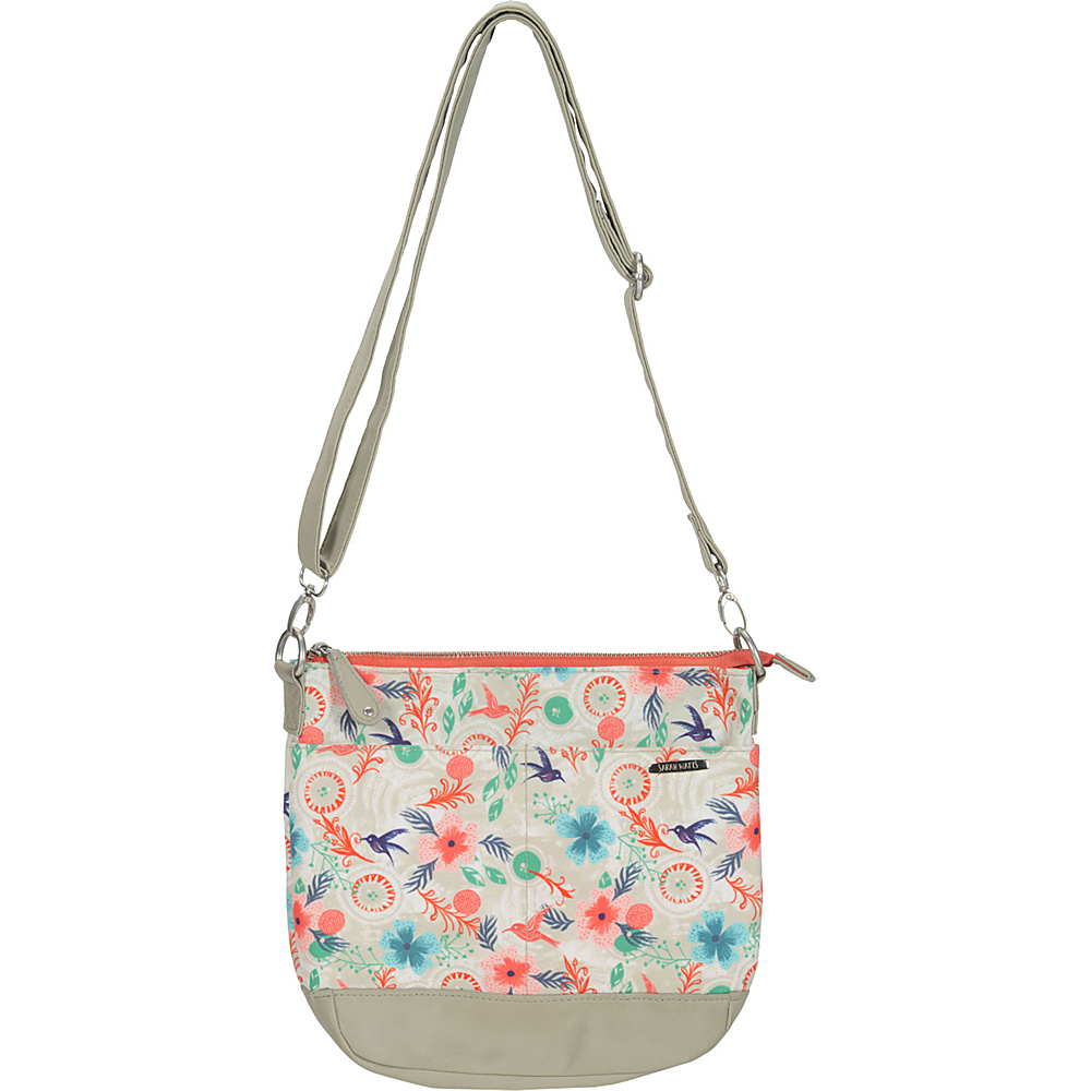 Capri Designs Sarah Watts Crossbody Morning Dew Capri Designs Fabric Handbags