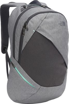 The North Face Womens Isabella Laptop Backpack TNF Medium Grey Heather/Ice Green - The North Face Business & Laptop Backpacks
