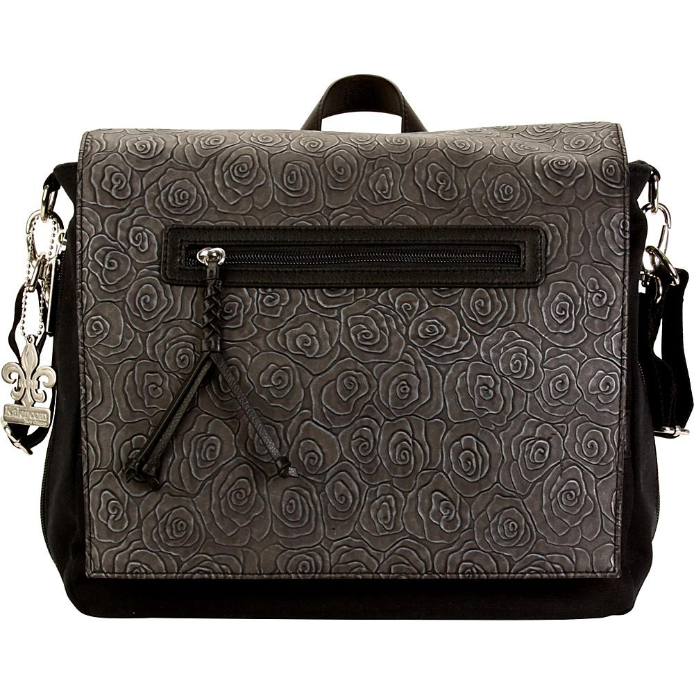 Kalencom Tokyo Diaper Backpack Rosebuds Black - Kalencom Diaper Bags & Accessories