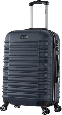 inUSA New York Collection 24 inch  Lightweight Hardside Spinner Suitcase Blue - inUSA Hardside Checked