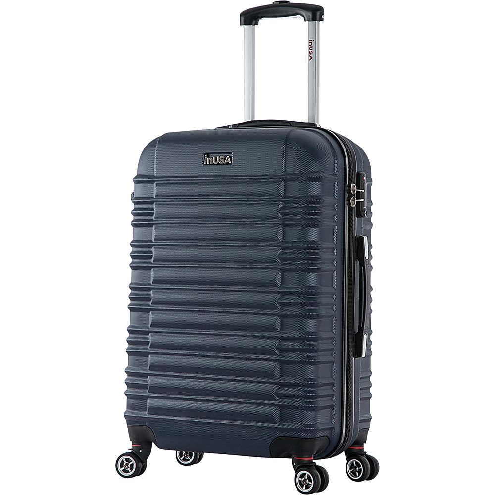 inUSA New York Collection 24 Lightweight Hardside Spinner Suitcase Blue inUSA Hardside Checked