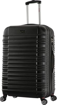 inUSA New York Collection 24 inch  Lightweight Hardside Spinner Suitcase Black - inUSA Hardside Checked