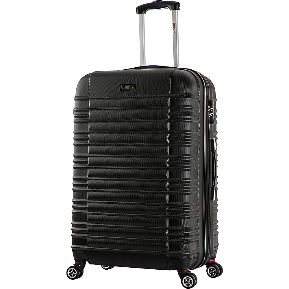 inUSA New York Collection 24 Lightweight Hardside Spinner Suitcase Black inUSA Hardside Checked