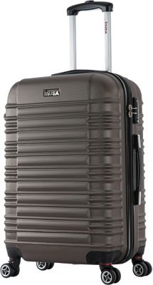 inUSA New York Collection 24 inch  Lightweight Hardside Spinner Suitcase Brown - inUSA Hardside Checked