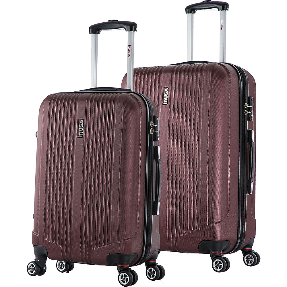 inUSA San Francisco ML 2 Piece Lightweight Hardside Spinner Luggage Set Wine inUSA Luggage Sets