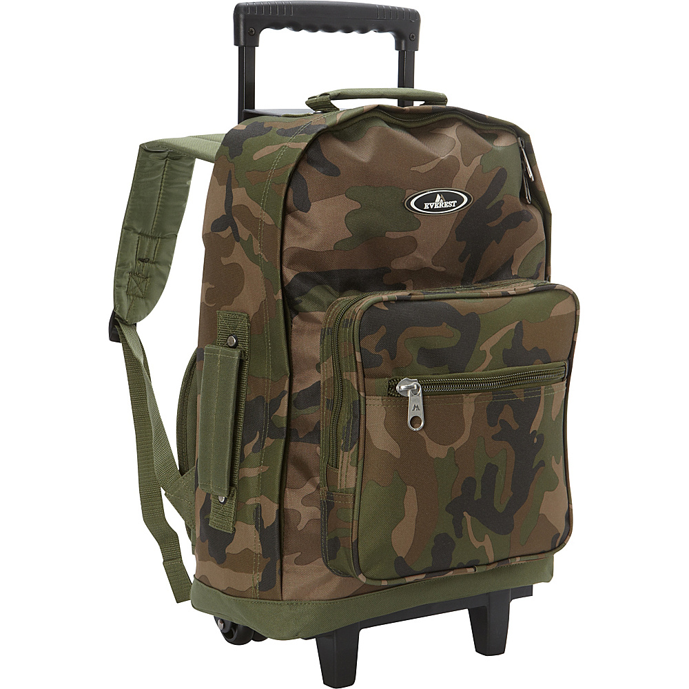 Everest Wheeled Backpack Jungle Camo - Everest Rolling Backpacks - Backpacks, Rolling Backpacks