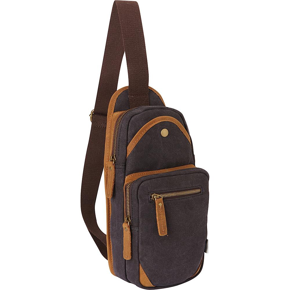 Vagabond Traveler Cotton Canvas Travel Chest Pack Grey - Vagabond Traveler Slings - Backpacks, Slings