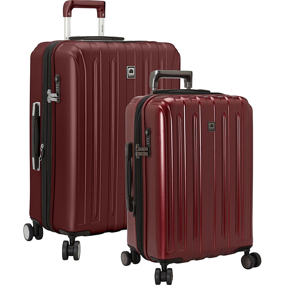 delsey helium titanium 2 piece expandable hardside luggage set new ebay. Black Bedroom Furniture Sets. Home Design Ideas