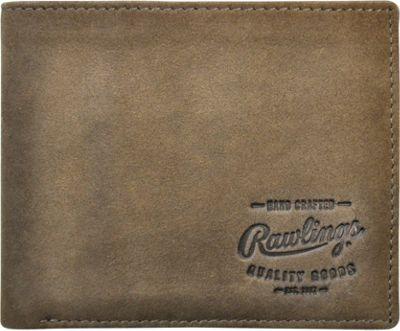 Rawlings Double Steal Bifold Wallet Glove Brown - Rawlings Men's Wallets