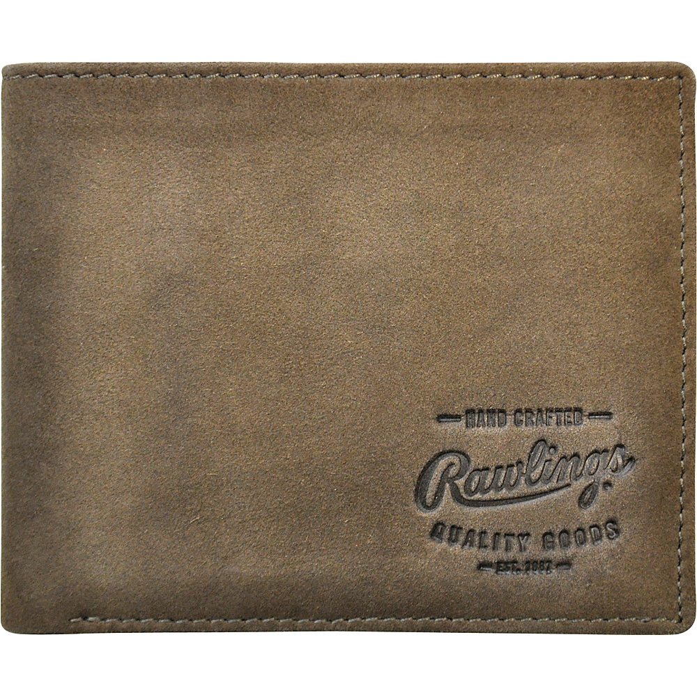 Rawlings Double Steal Bifold Wallet Glove Brown Rawlings Men s Wallets