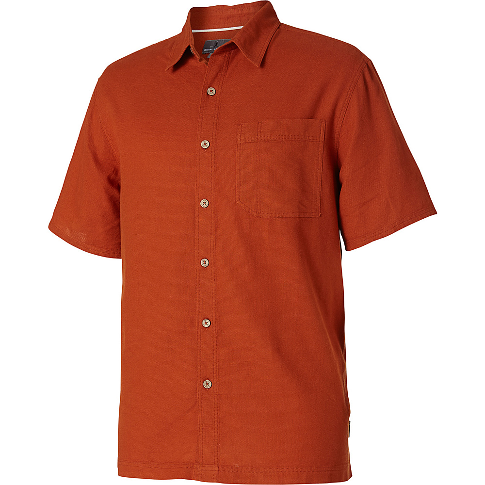 Royal Robbins Cool Mesh Short Sleeve S - Cordwood - Royal Robbins Mens Apparel - Apparel & Footwear, Men's Apparel