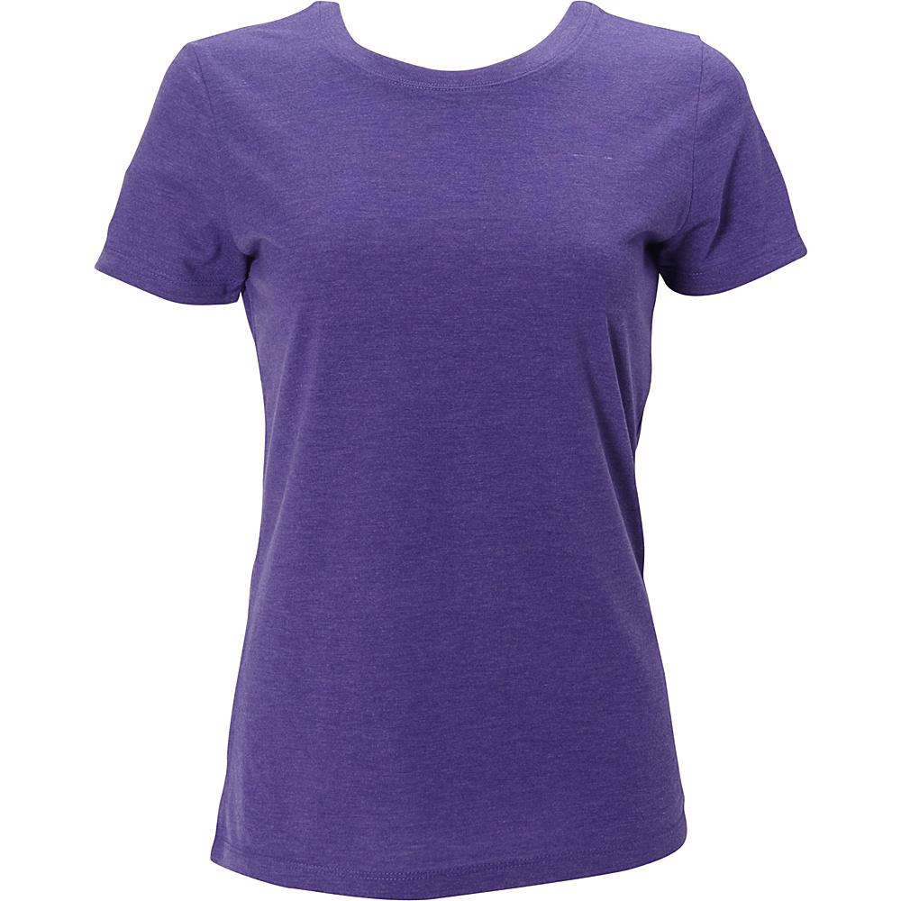 Simplex Apparel Triblend Womens Crew Tee XS - Crimson Purple - Simplex Apparel Womens Apparel - Apparel & Footwear, Women's Apparel