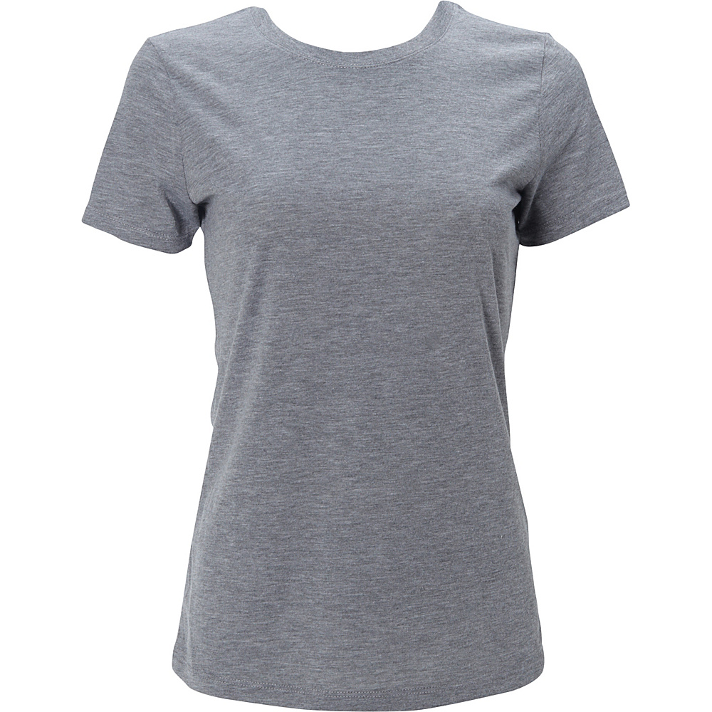 Simplex Apparel Triblend Womens Crew Tee L - Heather Grey - Simplex Apparel Womens Apparel - Apparel & Footwear, Women's Apparel