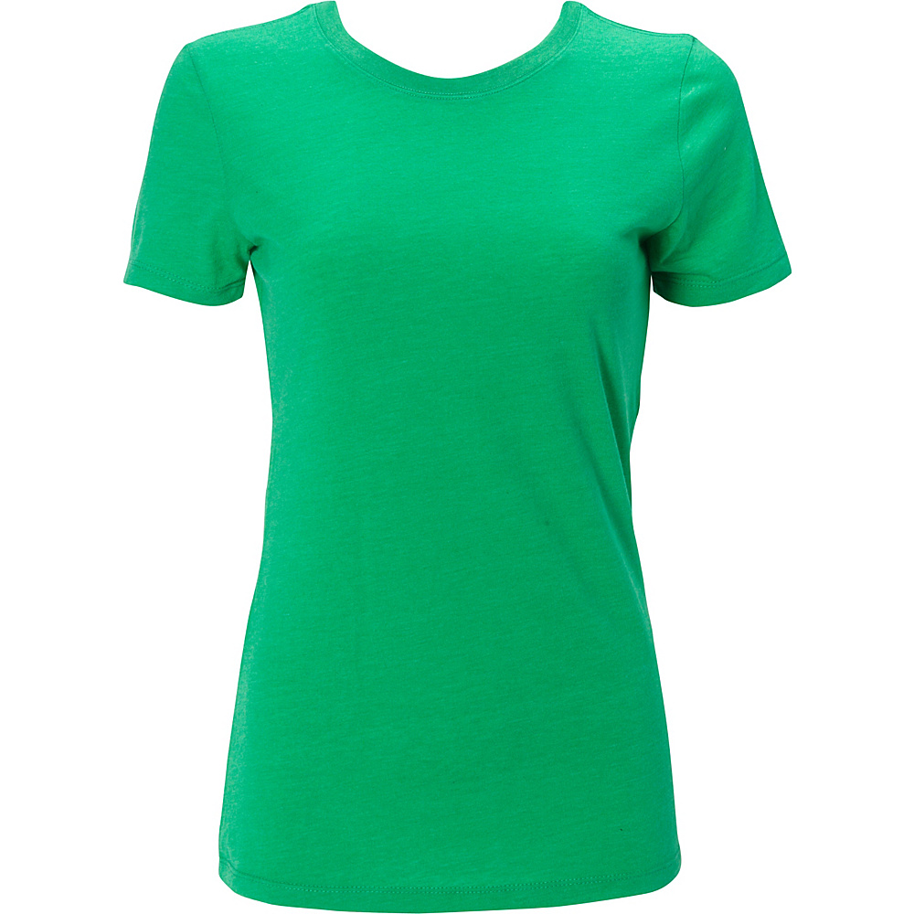 Simplex Apparel Triblend Womens Crew Tee L - Lush Green - Simplex Apparel Womens Apparel - Apparel & Footwear, Women's Apparel
