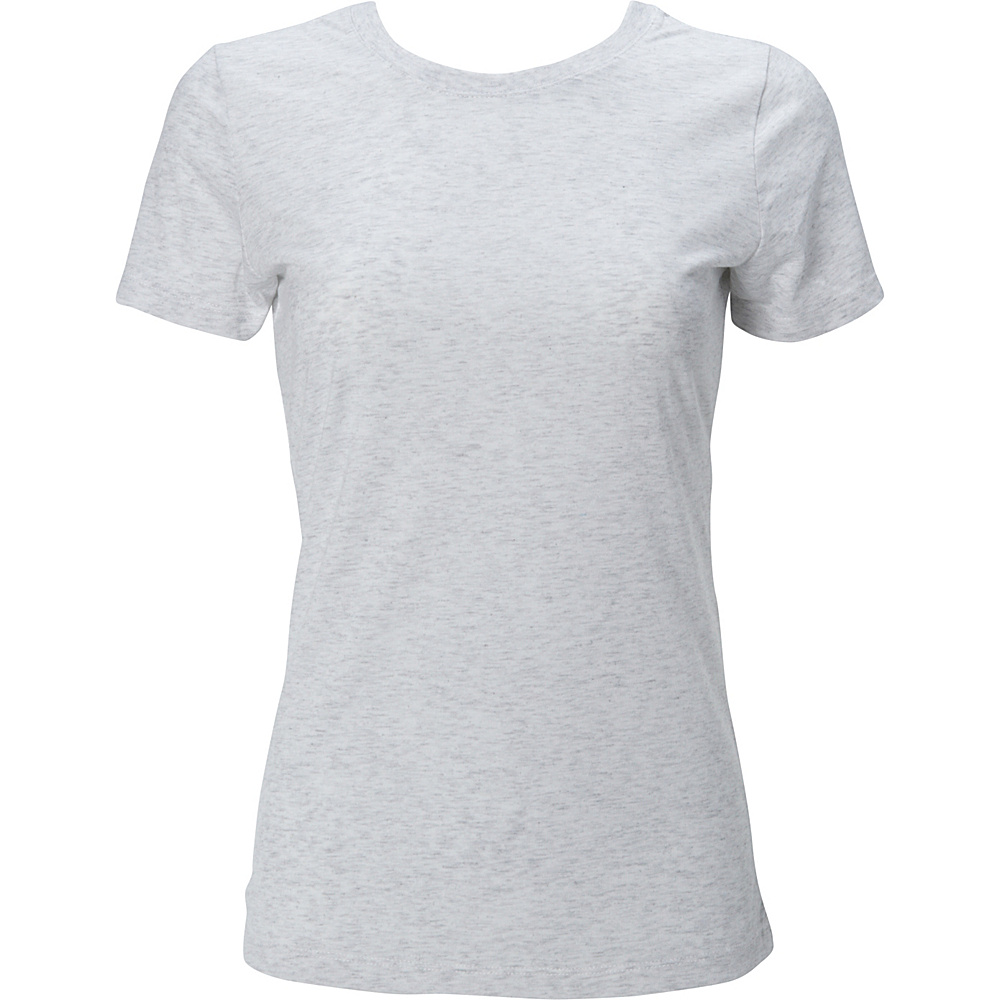 Simplex Apparel Triblend Womens Crew Tee L - Speckled White - Simplex Apparel Womens Apparel - Apparel & Footwear, Women's Apparel