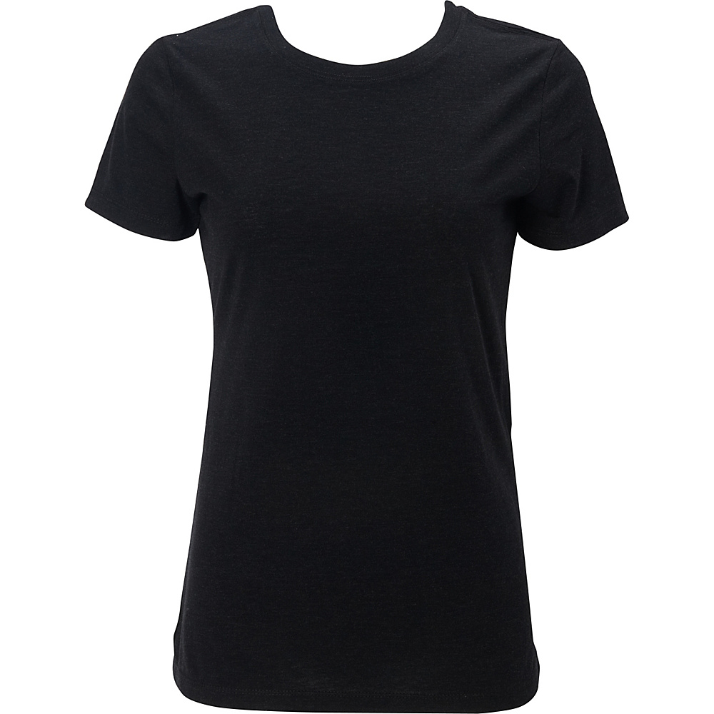 Simplex Apparel Triblend Womens Crew Tee L - Vintage Black - Simplex Apparel Womens Apparel - Apparel & Footwear, Women's Apparel