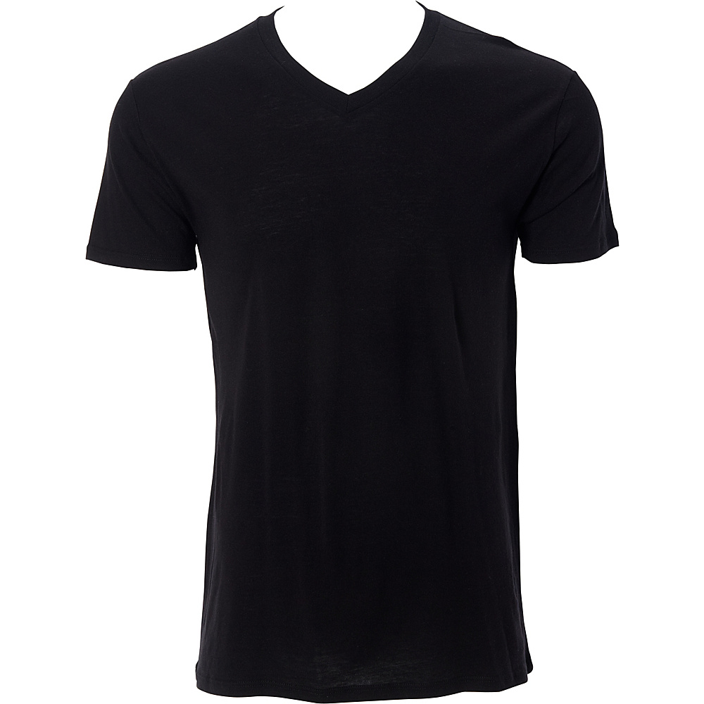 Simplex Apparel Modal Mens V Tee L - Black - Simplex Apparel Mens Apparel - Apparel & Footwear, Men's Apparel