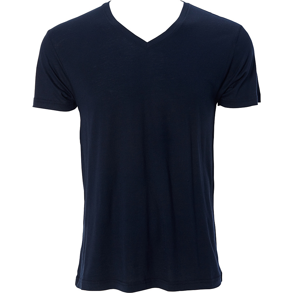 Simplex Apparel Modal Mens V Tee S - Navy - Simplex Apparel Mens Apparel - Apparel & Footwear, Men's Apparel