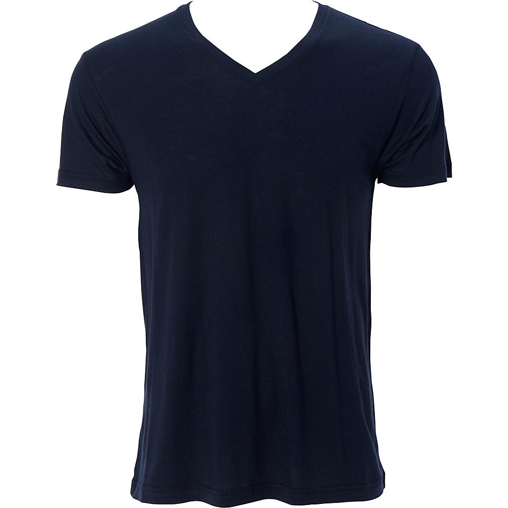 Simplex Apparel Modal Mens V Tee L - Navy - Simplex Apparel Mens Apparel - Apparel & Footwear, Men's Apparel
