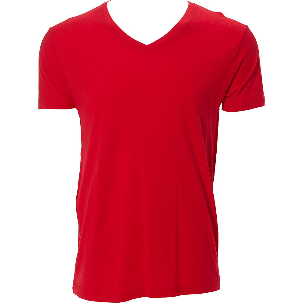 Simplex Apparel Modal Mens V Tee 2XL - Red - Simplex Apparel Mens Apparel - Apparel & Footwear, Men's Apparel