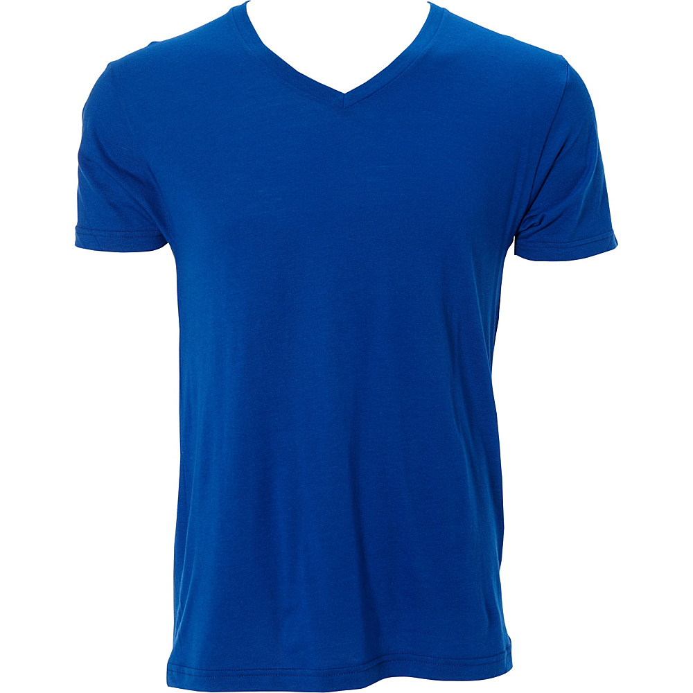 Simplex Apparel Modal Mens V Tee S - Royal - Simplex Apparel Mens Apparel - Apparel & Footwear, Men's Apparel