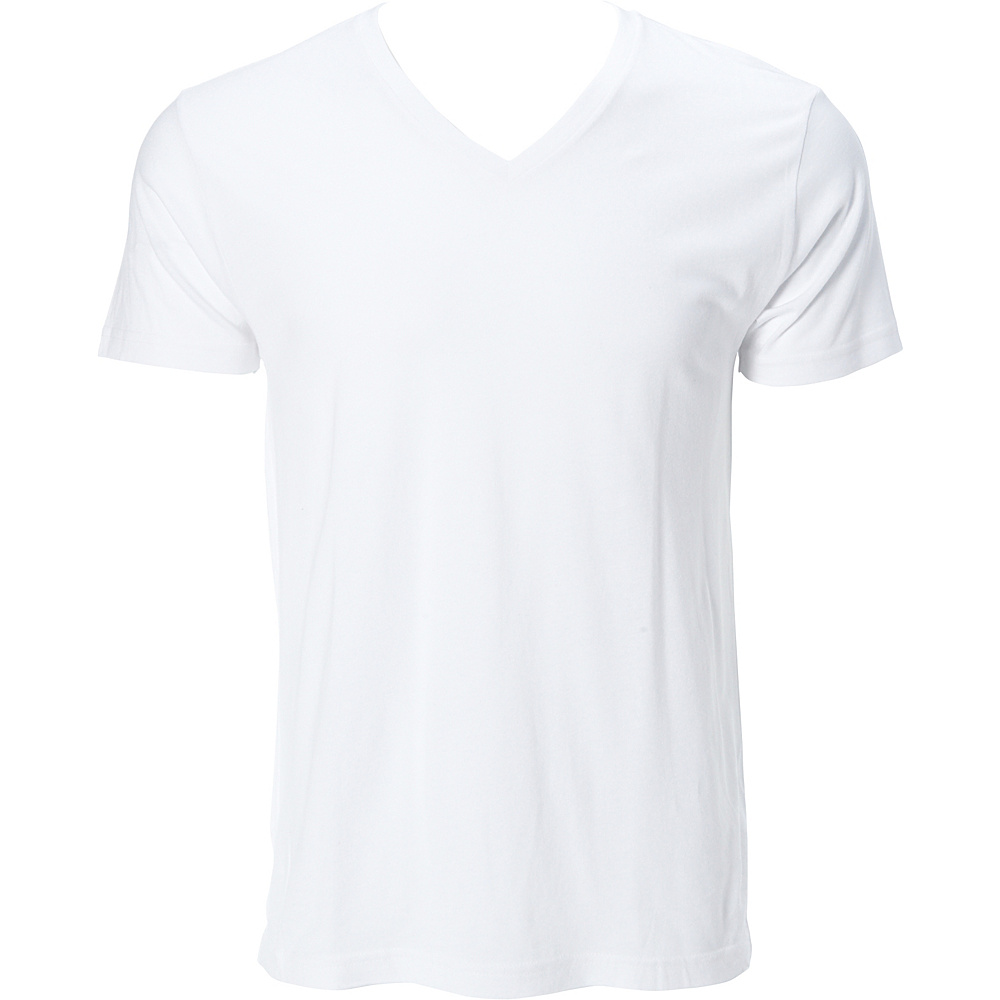 Simplex Apparel Modal Mens V Tee L - White - Simplex Apparel Mens Apparel - Apparel & Footwear, Men's Apparel