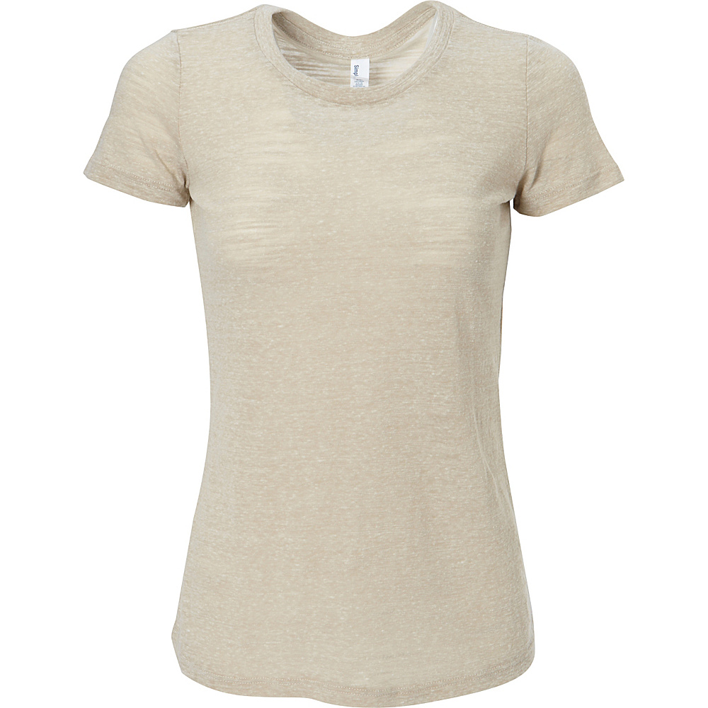 Simplex Apparel Triblend Slub Womens Crew Tee XL - Sand - Simplex Apparel Womens Apparel - Apparel & Footwear, Women's Apparel