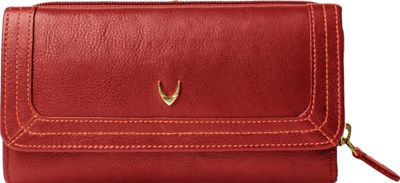 Hidesign Cerys Trifold Leather wallet Red - Hidesign Women's Wallets