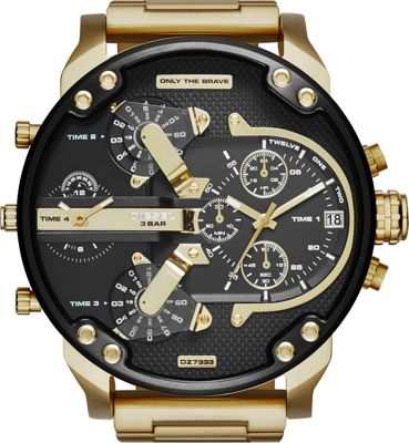 Diesel Watches Diesel Watches Mr Daddy 2.0 Stainless Steel Watch Gold/Gunmetal - Diesel Watches Watches