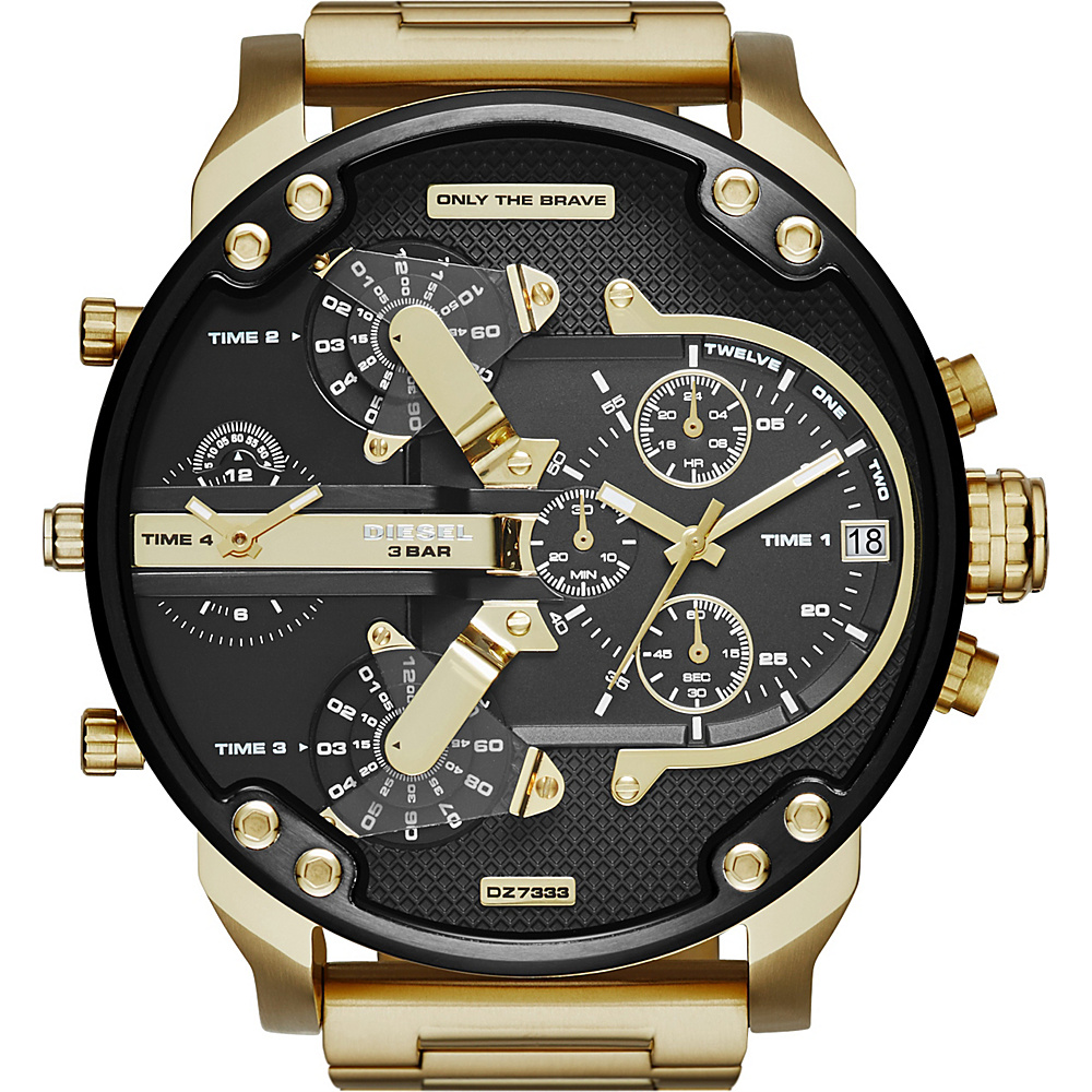 Diesel Watches Mr Daddy 2.0 Stainless Steel Watch Gold Gunmetal Diesel Watches Watches