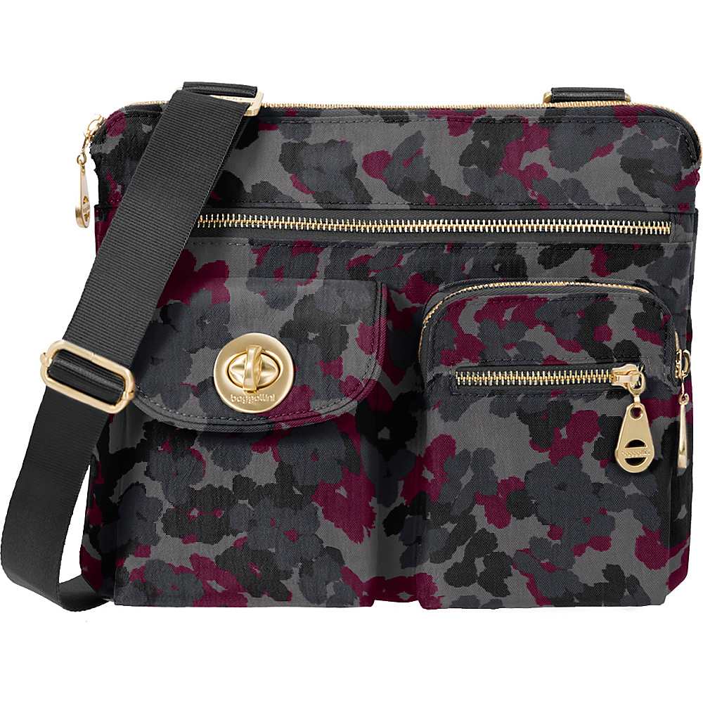 baggallini Gold Sydney- Retired Colors Midnight Floral - baggallini Fabric Handbags